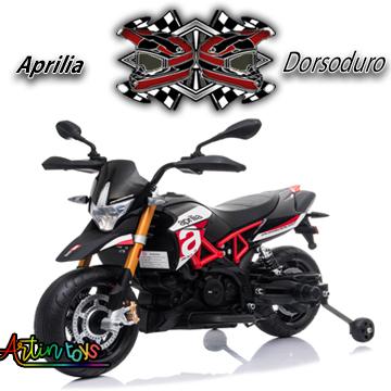 12 v Aprilia Dorsoduro kids electric bike black