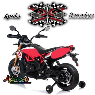 12 v Aprilia Dorsoduro ride on bike red