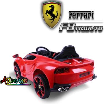 12 v Ferrari F8 Tributo ride on electric carred