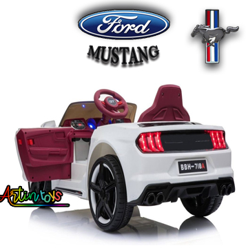 12 v Ford Mustang GT kids electric battery car white
