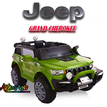 12 v Jeep Grand Cherokee kids ride on car green