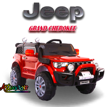12 v Jeep Grand Cherokee kids ride on car red