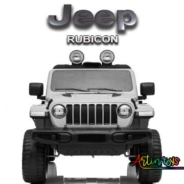 12 v Jeep Rubicon kids ride on car white