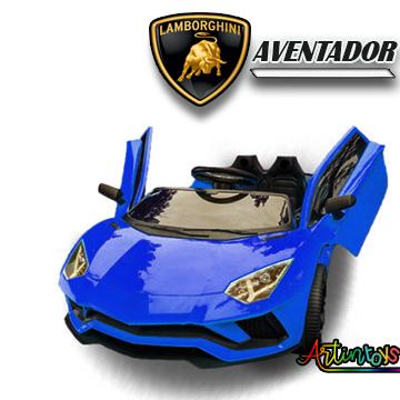 12 v Lamborghini Aventador kids ride on car blue
