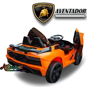 12 v Lamborghini Aventador kids ride on car orange