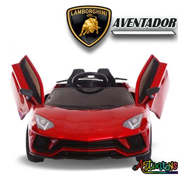 12 v Lamborghini Aventador kids ride on car red