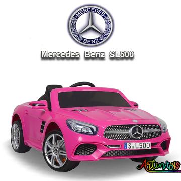 12 v Licensed Mercedes SL500 kids auto car pink