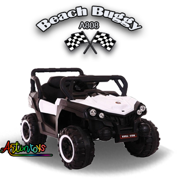 12 v Polaris Beach Buggy kids ride on buggy white