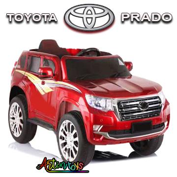 12 v Toyota Prado kids ride on car red