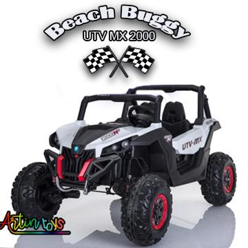 24 v 400 w Beach Buggy UTV MX kids ride on car white