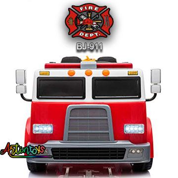 24 v Fire Truck BJ-911 kids ride on car red