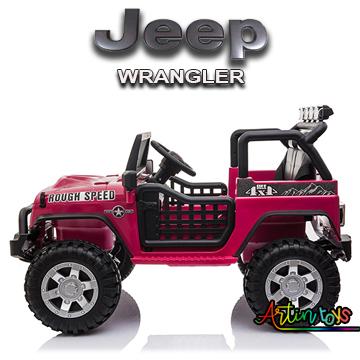 24 v Jeep Wrangler kids ride on car red