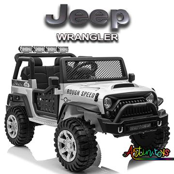 24 v Jeep Wrangler kids ride on car silver