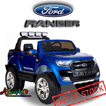 24 v Licensed Ford Ranger 4wd ride on toy car blue