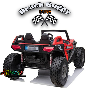 400 w 24 v Beach Buggy Dune Kids ride on car red