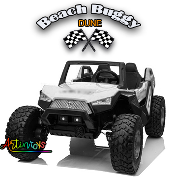 300 w 24 v Beach Buggy Dune Kids ride on car white