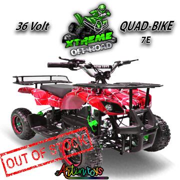 36 v 1000 w kids Electric ATV camouflage red (7E)