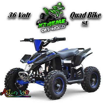 36 v 1000 w kids Electric ATV Quad black-blue (8E)