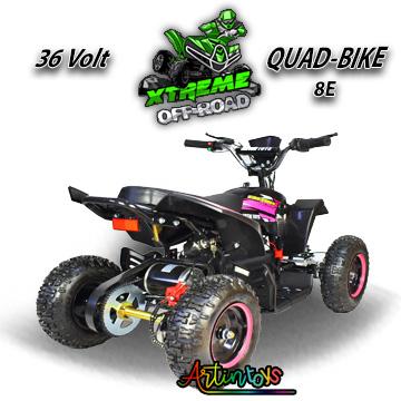 36 v 1000 w kids Electric ATV Quad black-pink (8E)