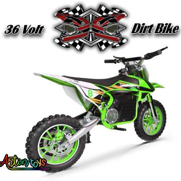 36 v 500 w Dirt Bike ride on bike green