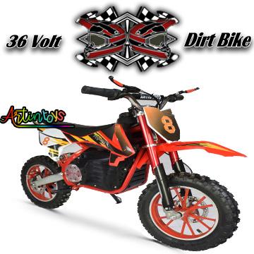 36 v 500 w Electric Dirt Bike red