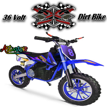 36 v 500 w kids electric Dirt Bike blue