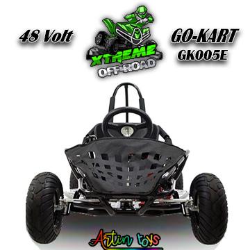 48 v 1000 w kids Electric Race Go-Kart black (G-005E)