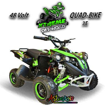 48 v 1000 w ATV kids ride on quad bike green