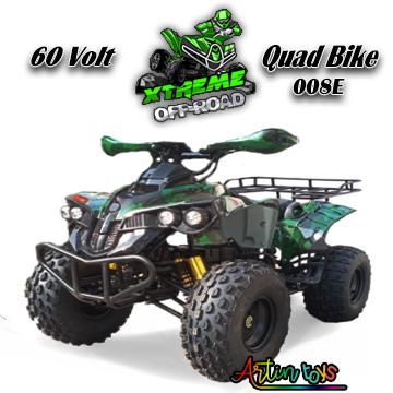 60 v 1200 w electric ATV Quad green camo (008E)