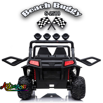 400 w 24 v Beach Buggy S-2588 Kids ride on car red