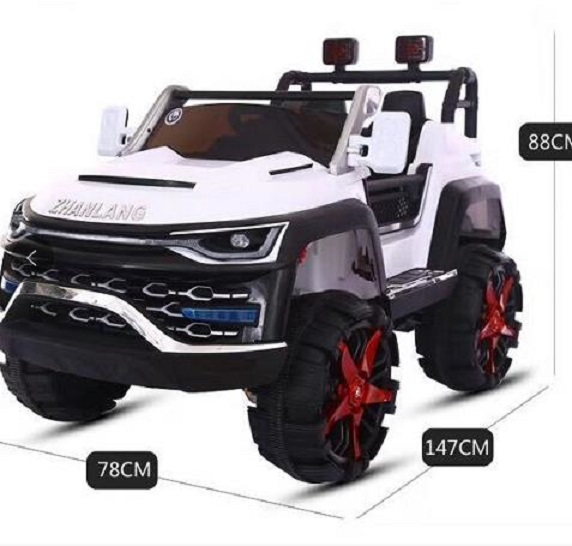 White Big Jeep Style Electric Ride On Remote Control Cars