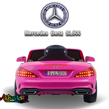 12-v-licensed-mercedes-benz-sl500-kids-auto-car-pink-8