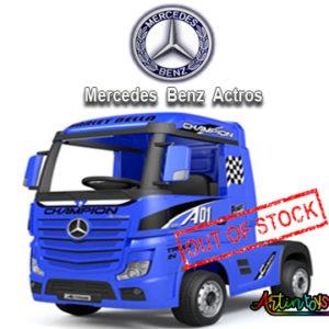 24 v Licensed Mercedes Benz Actros kids truck blue-10