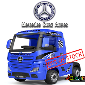 24 v Licensed Mercedes Benz Actros kids truck blue-10
