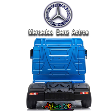 24 v Licensed Mercedes Benz Actros kids truck blue-9