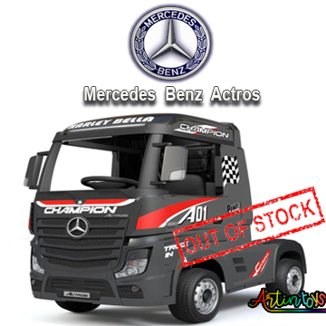 24 v Licensed Mercedes Benz Actros ride on truck black-10
