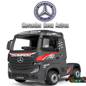 24 v Licensed Mercedes Benz Actros ride on truck black-6