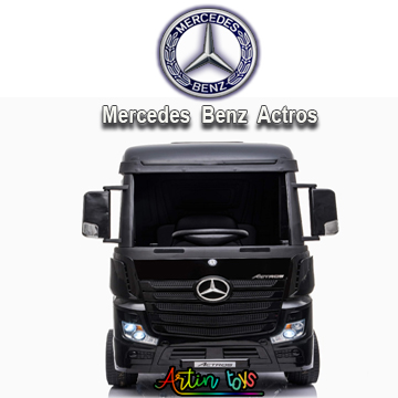24 v Licensed Mercedes Benz Actros ride on truck black-7