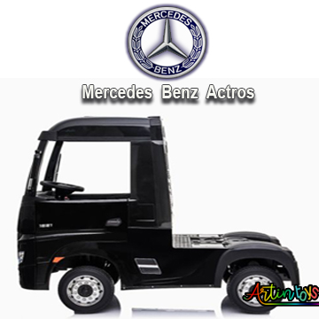 24 v Licensed Mercedes Benz Actros ride on truck black-8