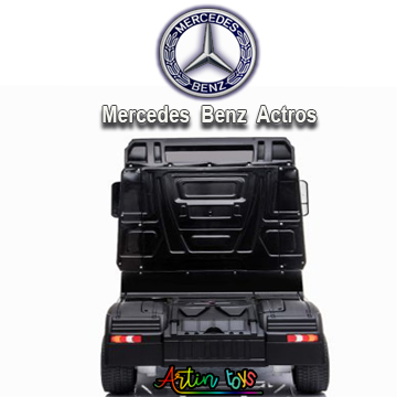 24 v Licensed Mercedes Benz Actros ride on truck black-9