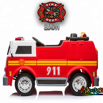24-v-fire-truck-bj-911-kids-ride-on-car-red-3