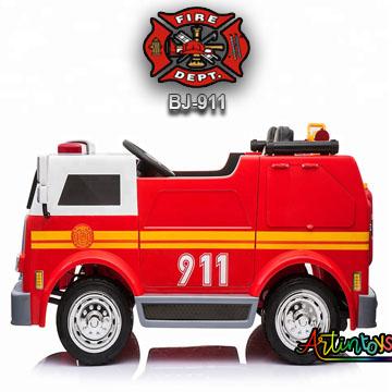 24-v-fire-truck-bj-911-kids-ride-on-car-red-3