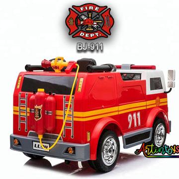 24-v-fire-truck-bj-911-kids-ride-on-car-red-4
