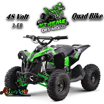 48-v-1060-w-atv-kids-ride-on-quad-bike-green-2
