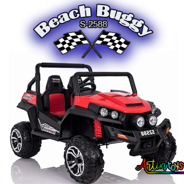ride on toy car 400 w 24 v Polaris Beach Buggy for kids red-17